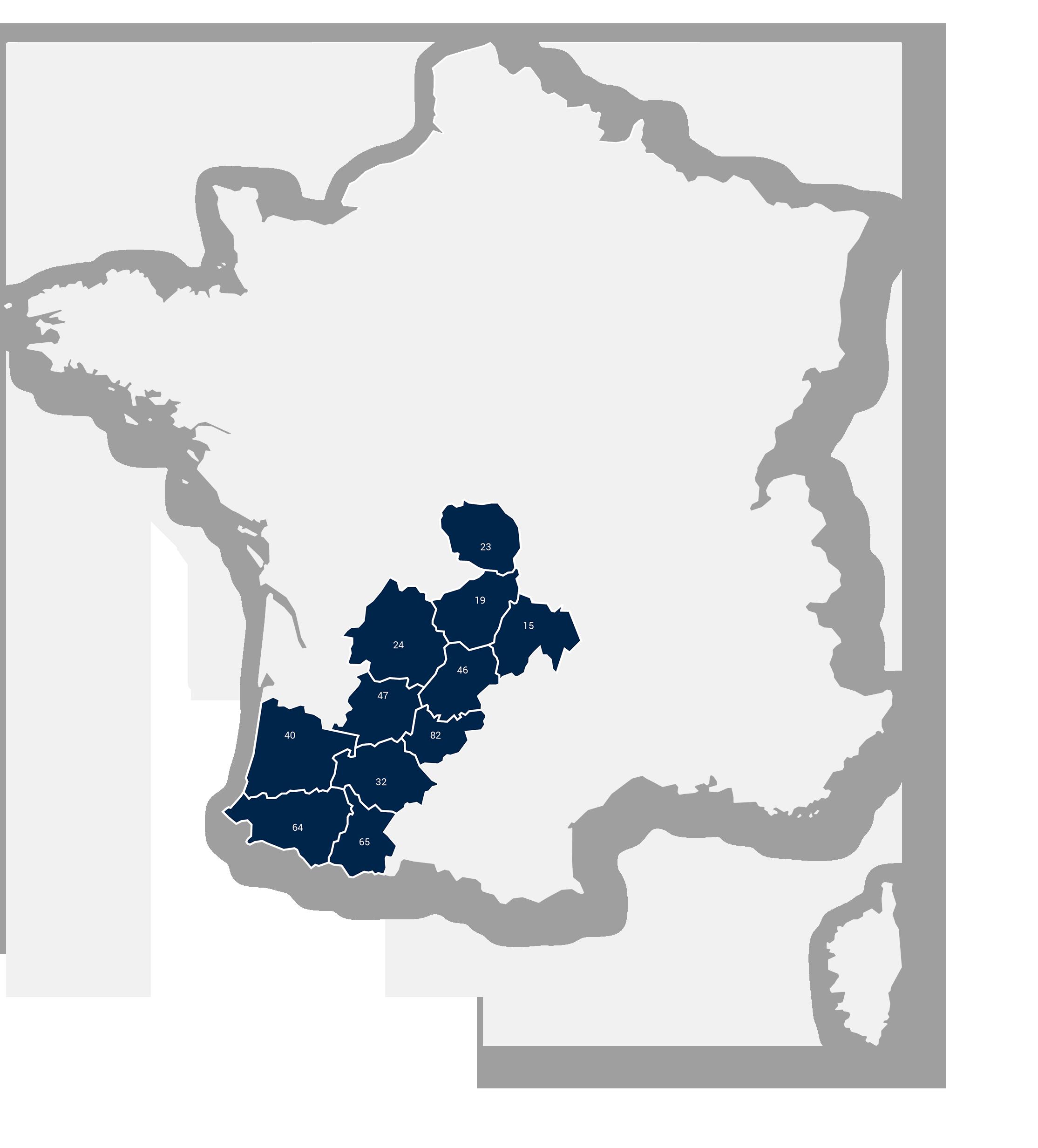 Région Sud-Ouest