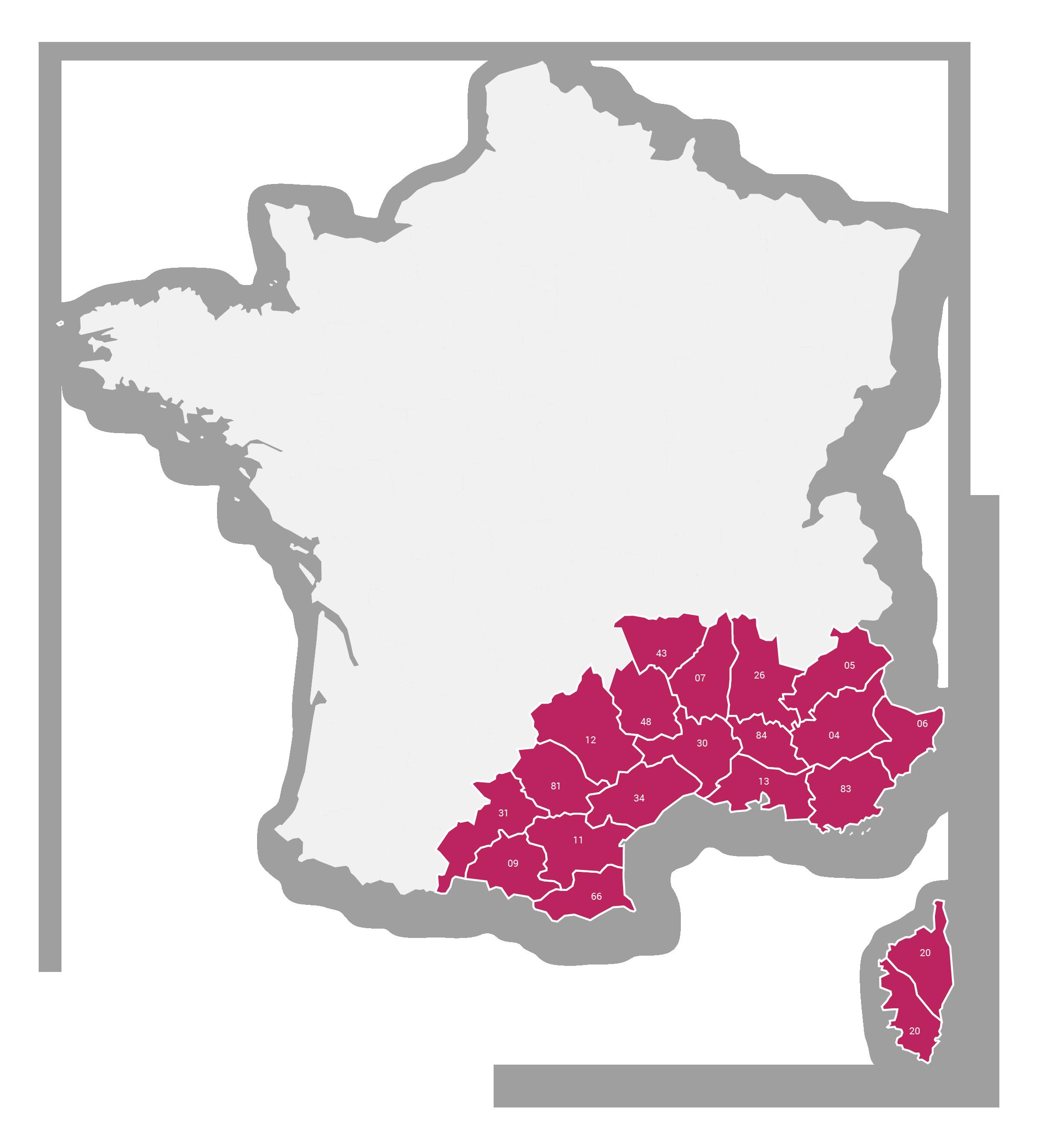 Région Sud-Est